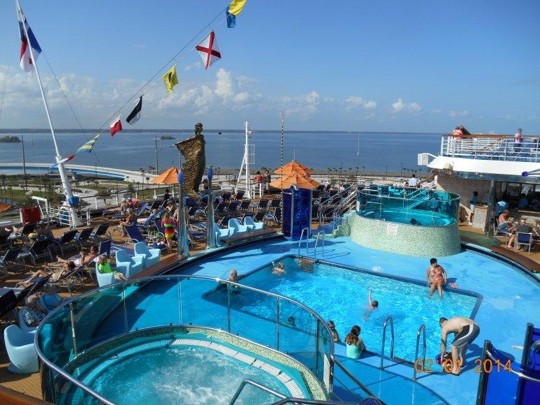 Carnival Dream Pool Deck