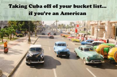 No Cuba foryou!